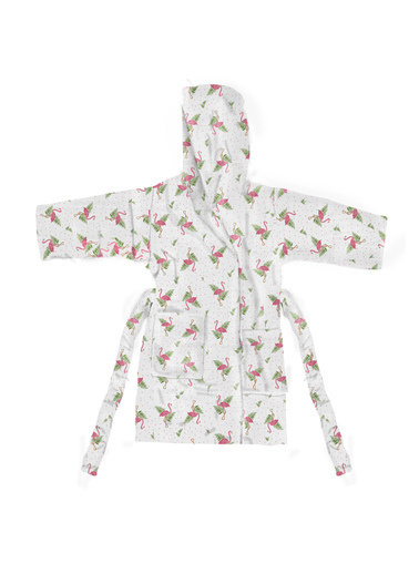 Lunanino Bebek Bornozu Flamingo 7-10 Yaş Renkli